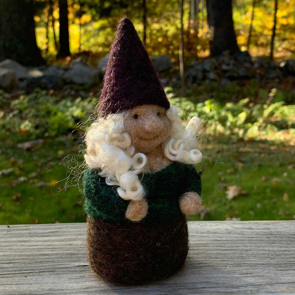 Gnome with Purple Hat