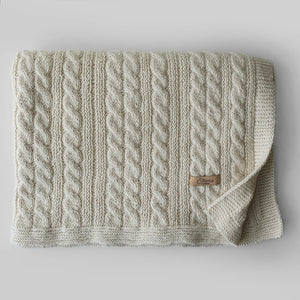 Set Newborn Blanket, Hat and Socks - Off white - claralondon-shop -  - Clara London