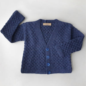Set Cardigan, Hat and Socks Dorian - Navy - claralondon-shop -  - Clara London