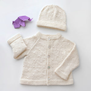 Set Cardigan and Hat Clara - Off white - claralondon-shop -  - Clara London