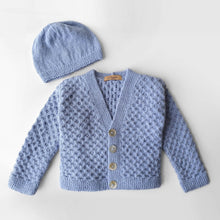 Load image into Gallery viewer, Set Cardigan, Hat and Socks Dorian - Navy - claralondon-shop -  - Clara London