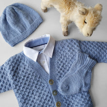 Load image into Gallery viewer, Set Cardigan, Hat and Socks Dorian - Light blue - claralondon-shop -  - Clara London