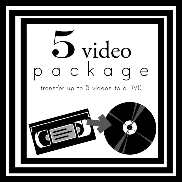 Add On: Transfer of up to 5 Videos to DVD