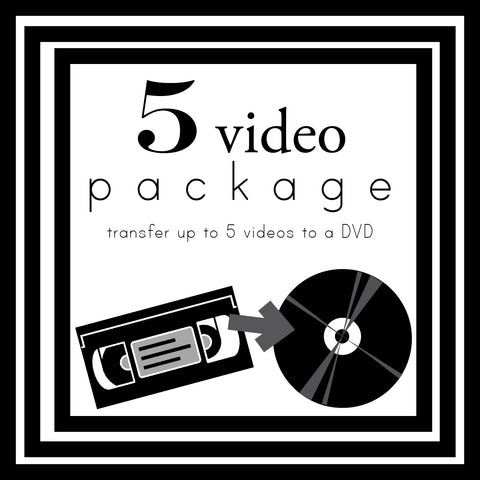 Transfer up to 5 Videos
