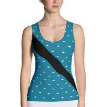 Load image into Gallery viewer, Thunderbat Women's Racing Tank - Blue
