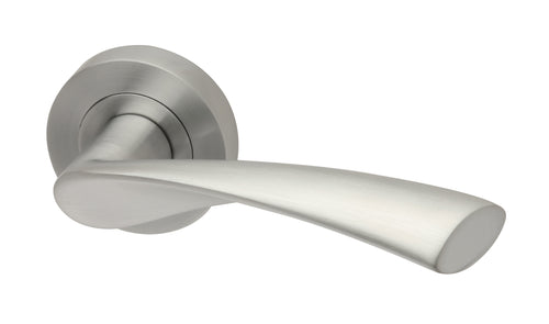Intelligent Hardware Zeta Round Rose Lever Door Handle