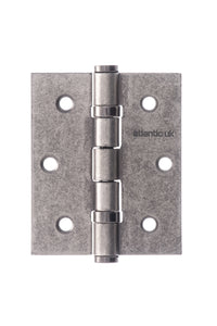 "Atlantic Ball Bearing Hinges 3"" x 2.5"" x 2.5mm - Distressed Silver"