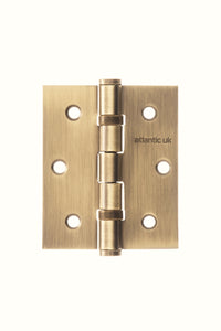"Atlantic Ball Bearing Hinges 3"" x 2.5"" x 2.5mm - Matt Antique Brass"