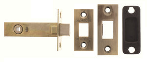 "Atlantic Bolt Through Tubular Deadbolt 4"" - Antique Brass"