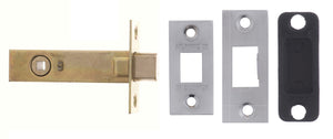 "Atlantic Bolt Through Tubular Deadbolt 4"" - Satin Chrome"