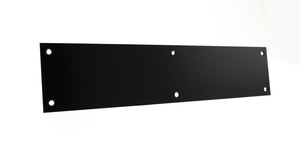 Atlantic Finger Plate Pre drilled with screws 350mm x 75mm - Matt Black