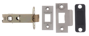 "Atlantic Heavy Duty Bolt Through Tubular Latch 3"" - Satin Nickel"