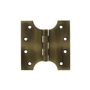 "Atlantic (Solid Brass) Parliament Hinges 4"" x 2"" x 4"" - Matt Antique Brass"