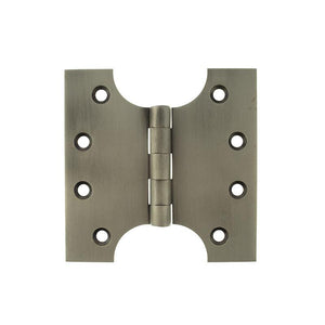 "Atlantic (Solid Brass) Parliament Hinges 4"" x 2"" x 4"" - Matt Gun Metal"