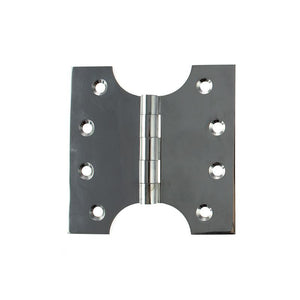 "Atlantic (Solid Brass) Parliament Hinges 4"" x 2"" x 4"" - Polished Chrome"