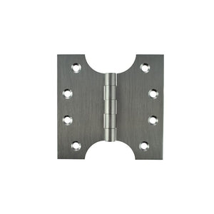 "Atlantic (Solid Brass) Parliament Hinges 4"" x 2"" x 4"" - Satin Chrome"