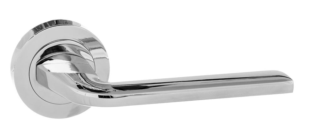 Eco Surf Aluminium Lever on Round Rose - Polished Chrome