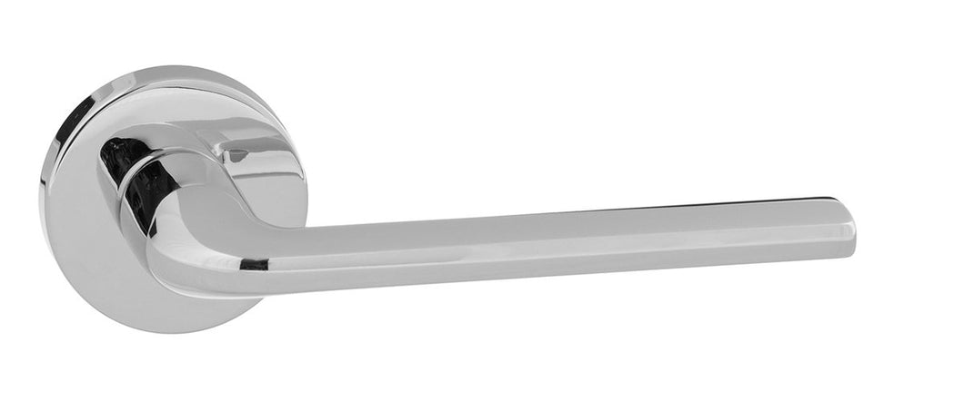 Forme Milly Designer Lever on Minimal Round Rose - Polished Chrome
