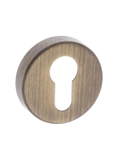 Forme Euro Escutcheon on Minimal Round Rose - Yester Bronze