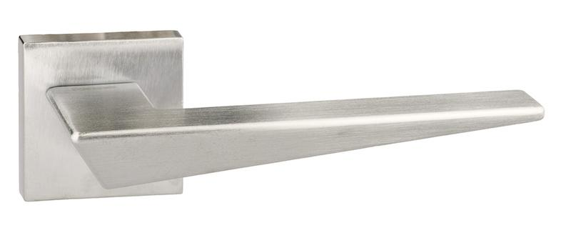 Forme Naxos Designer Lever on Minimal Square Rose - Satin Chrome