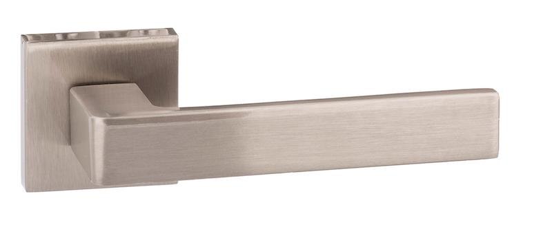 Forme Asti Designer Lever on Minimal Square Rose - Satin Nickel