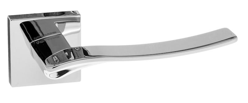Forme Olimpia Designer Lever on Minimal Square Rose - Polished Chrome