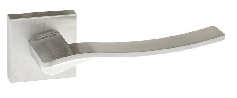 Forme Olimpia Designer Lever on Minimal Square Rose - Satin Chrome