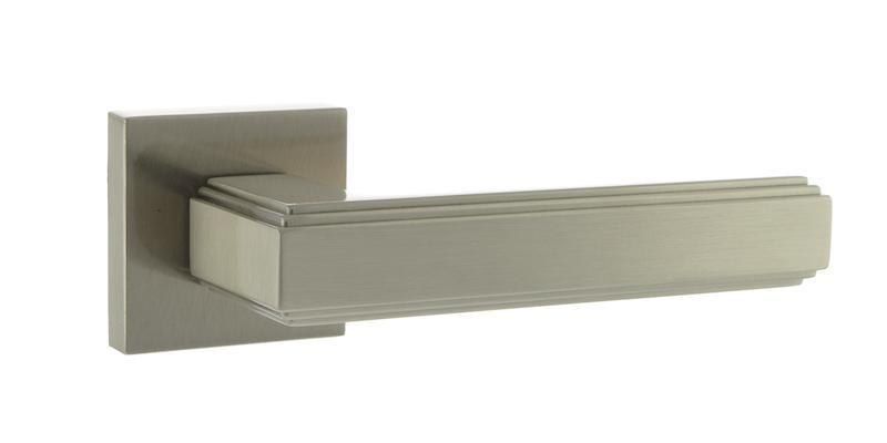 Forme Alila Designer Lever on Minimal Square Rose - Satin Nickel