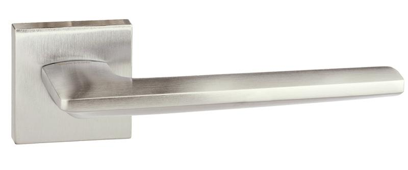 Forme Boston Designer Lever on Minimal Square Rose - Satin Chrome