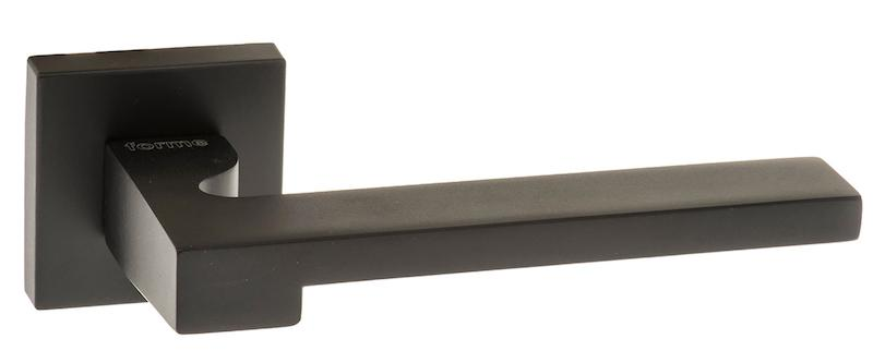Forme Ginevra Designer Lever on Minimal Square Rose - Matt Black