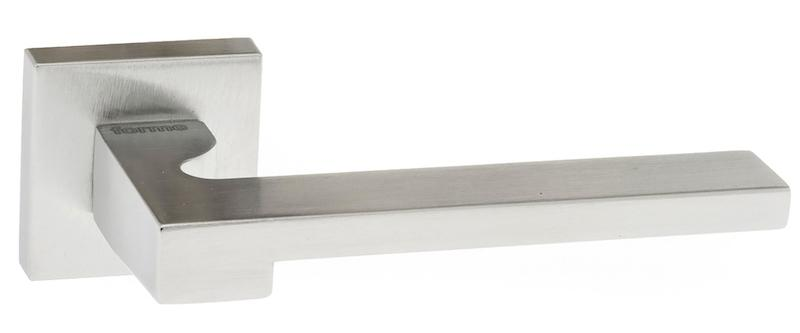 Forme Ginevra Designer Lever on Minimal Square Rose - Satin Chrome