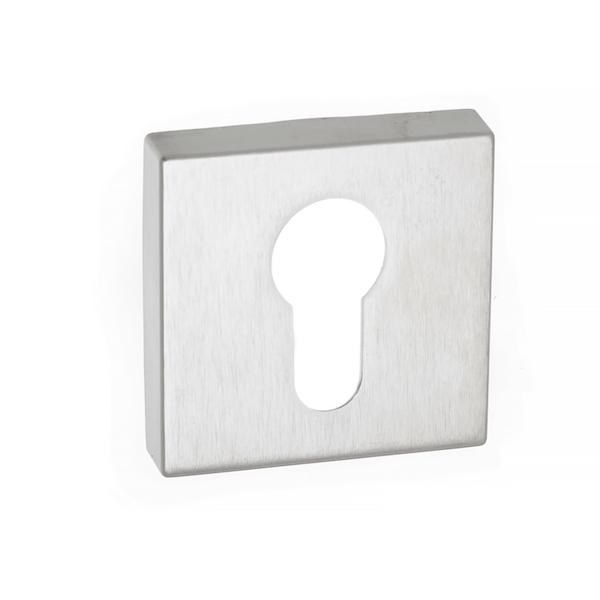 Forme Euro Escutcheon on Minimal Square Rose - Satin Chrome