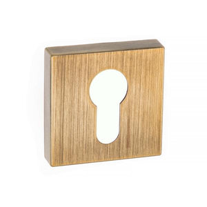 Forme Euro Escutcheon on Minimal Square Rose - Yester Bronze