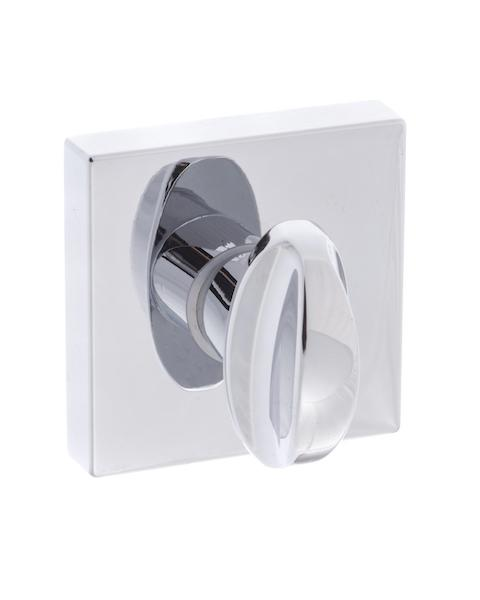 Forme WC Turn and Release on Minimal Square Rose - Polished Chrome