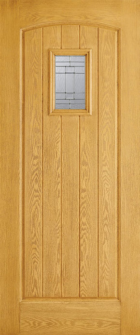 Cottage 1L Pre-Finished Oak Doors 813 x 2032