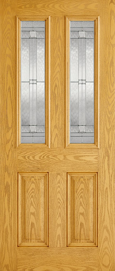Malton 2L Glazed External Pre-Finished Oak Doors 813 x 2032