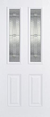 Malton 2L Glazed External Pre-Finished White Doors 813 x 2032
