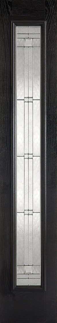 Sidelight 1L Elegant Pre-Finished Black Front Face With White Inside Face and Edges Doors 356 x 2032