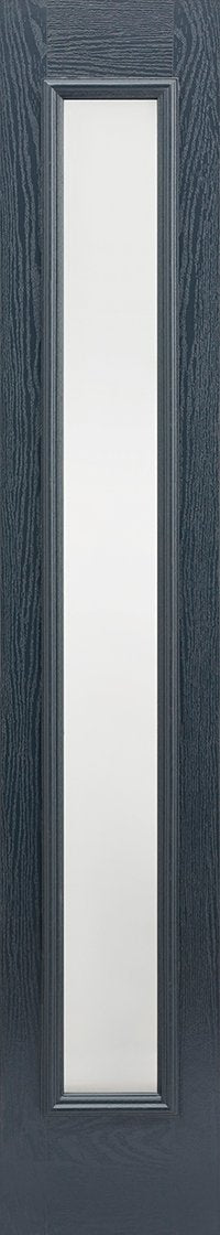 Sidelight 1L Frosted Pre-Finished Anthracite Grey Doors 356 x 2032