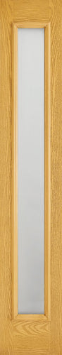 Sidelight 1L Frosted Pre-Finished Oak Doors 356 x 2032