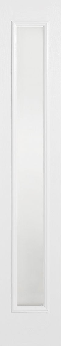 Sidelight 1L Frosted Pre-Finished White Doors 356 x 2032