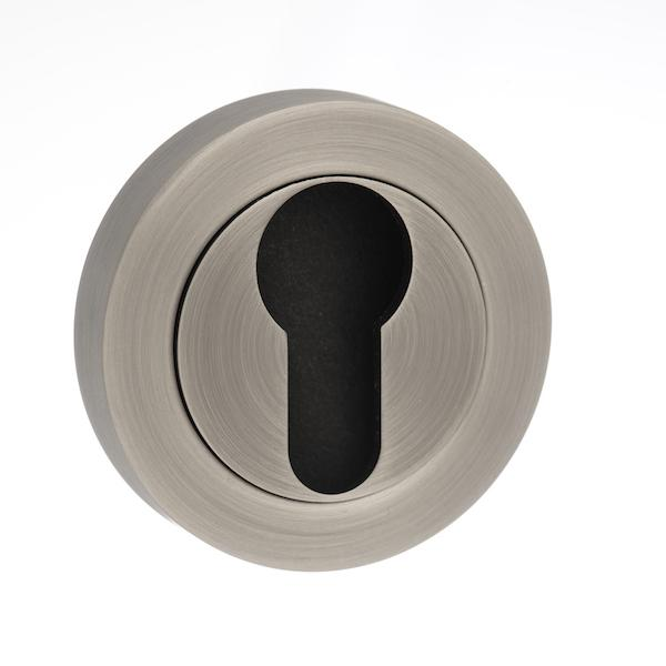 Old English Euro Escutcheon - Matt Gun Metal