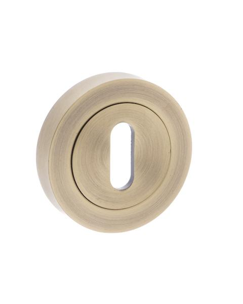 Old English Key Escutcheon - Matt Antique Brass