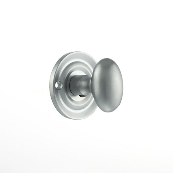 Old English Solid Brass Oval WC Turn and Release - Satin Chrome