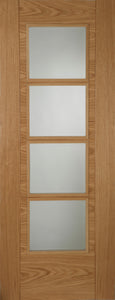 Iseo Crown Cut Veneer Central 4 Light Glazed