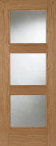 Madrid 3 Light Glazed Prefinished Oak