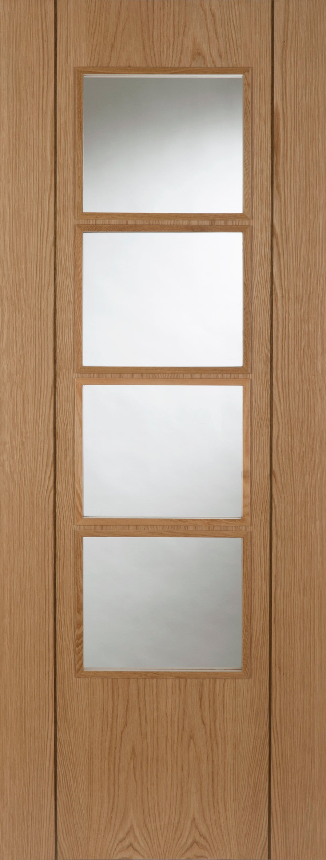 Vision 4 Light Glazed Prefinished Oak