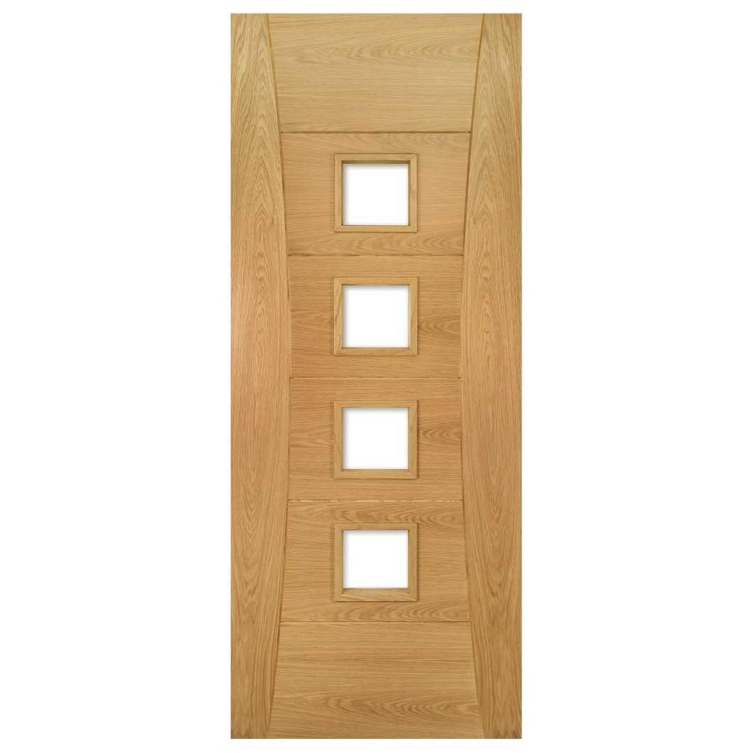 Pamplona Prefinished Oak Glazed Fire Door