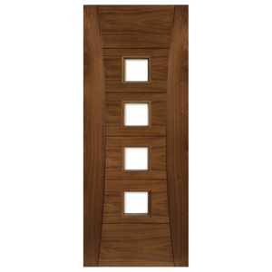 Pamplona Prefinished Walnut UnGlazed Fire Door
