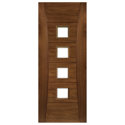 Pamplona Prefinished Walnut Glazed Fire Door